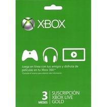 Membresia Xbox Live 3meses Gold, Envio Inmediato!