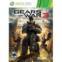 Gears Of War 3 Xbox One 360 + Plantas Vs Zombies Licencia