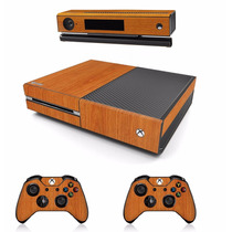 Skin Xbox One Text Madera Inc. Consola, 2 Controles 1 Kinect