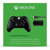 Control Xbox One Con Carga Y Juega, Nuevo Origial