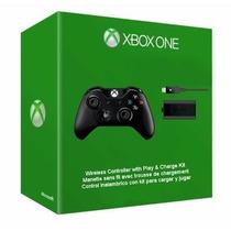Control Inalámbrico Xbox One + Kit Carga Y Juega