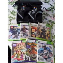Xbox 360 Slim 250gb 2 Controles 7 Juegos Cambio Por Ps3