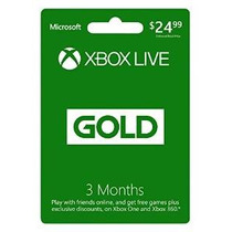 Xbox Live 3 Meses De Membresía Gold [código De Juego Online]