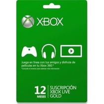 Membresia Xbox Live 12 Meses Incluye Juego Gratis