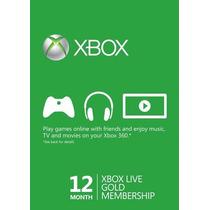 Gold 12 Meses Un Año Xbox Live Gold Xbox One Xbox 360