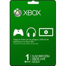 Tarjeta Gift Card Xbox One Live Membresia 1 Mes Envio Gratis
