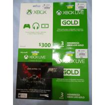 Membresía Gold 3 Meses Para Xbox One O Xbox 360