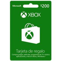 Tarjeta Xbox Live 200
