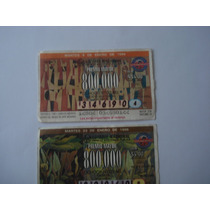 2 Billetes De Loteria Cambio A Nuevos Pesos 1996