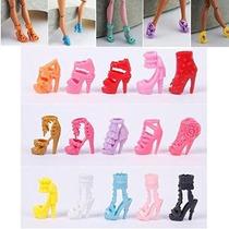 Conjunto De 10 Pares Fashion Dolls Zapatos Tacones Sandalsfo