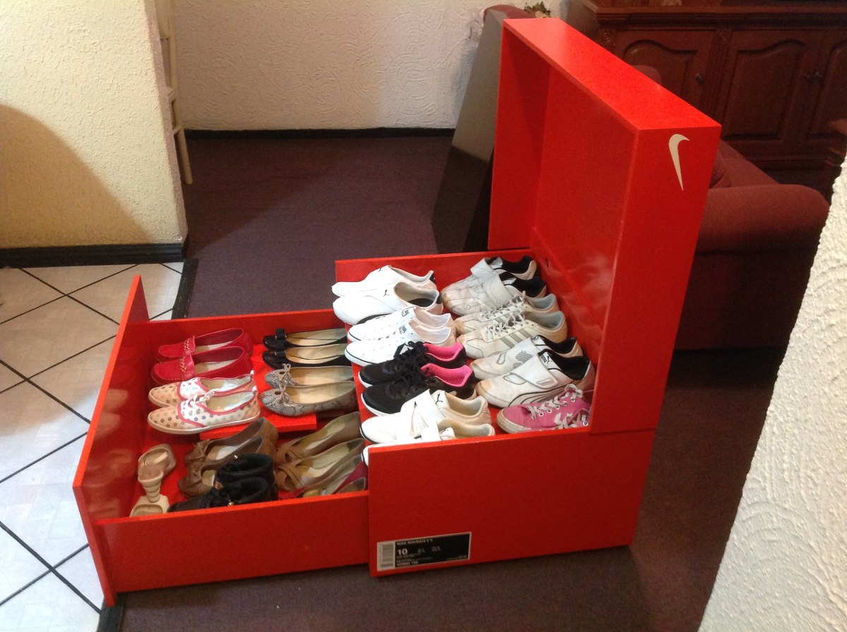 Zapateras tipo caja de zapatos 2 en mercadolibre for Precio de zapateras de madera