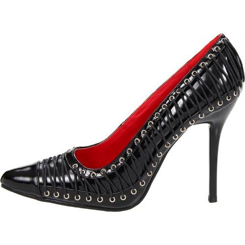 Zapatillas Negras Picudas C/ Corset 420-lolita