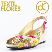 Zapato Textil Flores Marca David Corsaro