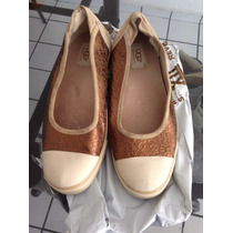 Zapatos Usados Marca Ugg Color Dorado Talla 27 Mex.maa