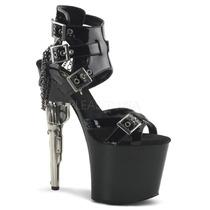 Zapatillas Sexy Negro Charol C/ Hebillas Bondgirl-726