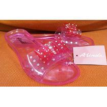 Bellísimas Sandalias Chanclas Plástico Alinda No. 19 Niña