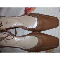 Zapatos Tacones, Nuevos, Color Café, Mujer, Life Stride