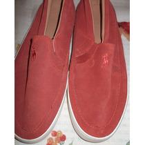 Zapato Tenis,nuevos,color Ladrillo, Hombre,polo Ralph Lauren