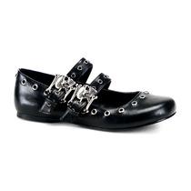 Zapatos Flat Demonia Daisy-03 Calavera Skull Gotic Gotham