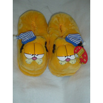 Pantuflas De Garfield Con Gorro De 25cms De Largo Original