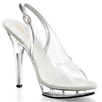 Zapatillas Transparentes C/ Correa Tacon 12cm Lip-150