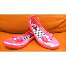 Lindos Zapatos Flats Plástico Con Pulsera Aylina No. 20 Niña