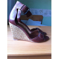 Zapatillas Marca Zara No. 36 Color Cafe Hm4