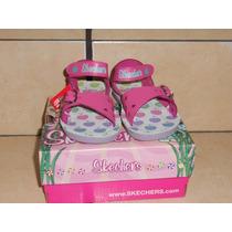 Huaraches Skechers No 12cm En Piel Rosa Preciosos