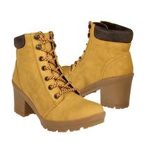 Capa De Ozono Zapatos Dama Botas 314307-2 Suede Amarillo
