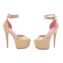 Zapatillas Plataforma 5mx Color Piel Nude Curissa Oferta!!
