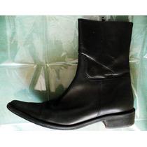 Zapatos Botines Dama Negro No.4 Piel Corte Vacuno