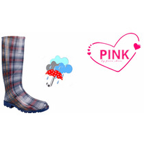 Bota Casual 3/4 Para Lluvia Pink By