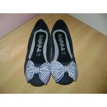Flats Azules Estilo Marinero No Bershka Shasa Zara Pull And