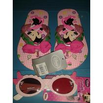Set Sandalias Y Lentes Minnie Mouse Niña 17cms Disney Store