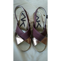 Sandalias Anne Klein Sport #4 Color Cobre