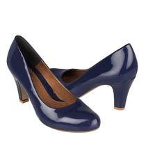 Stylo Zapatos Dama Tacones 25006 Charol Azul
