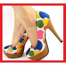 Zapatillas Pumps Tacon Flats Mujer Hermosa X Liquidacion