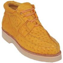 Zapato En Piel De Avestruz