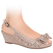 Zapatillas Dama Corte Tipo Napa 6cms 133224 Sn1