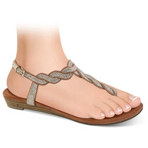Zapatillas Dama Corte Tipo Napa 2.5cms 137884 Sn1