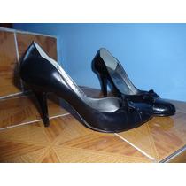Zapatillas De Piel Color Negro Talla 26