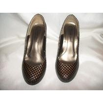 Zapatos Color Café Con Plataforma. Talla 3 Oferta Hm4