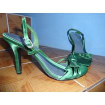 Sandalias Color Verde Talla 25.5