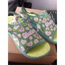 Huaraches Marca Skechers Talla21 Centimetros De Niña