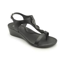 Sandalias Negras Para Dama, Plataforma, Flexi Rudos