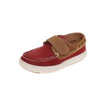 Bambino - Mocasín Rojo Con Velcro - Rojo - A1155