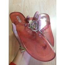 Zapatos Sandalias Michael Kors Mk Rosas Placa Grande!!!