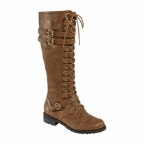 Bota Larga De Dama Dark Heavy Punk Negra Cafe 0701