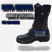 Bota Militar Tactica Piel Con Cierre Modelo Centauro