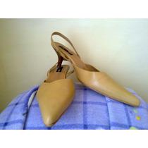 Zapatillas De Piel Amarillas T. 25cm Marca Efe~efe